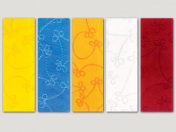 φυσικό χειροποίητο χαρτί jaipur με ασημένια κεντήματα
