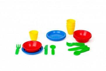 24 κομμάτια μαχαίρια ,πιρούνια .κουτάλια, πιάτα μπολ ποτήρια