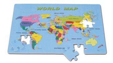 """Αφρώδες Παζλ """"Πάγκόσμιος Χάρτης"""""""