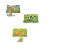 Ξύλινα puzzles - Ήμερα ζώα