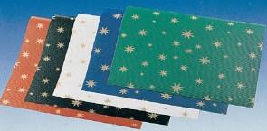 Χαρτιά αλουμινόχαρτα, γκοφρέ με άστρα