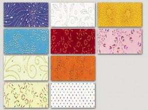 Φυσικό χαρτί με χειροποίητα σχέδια και πέρλες