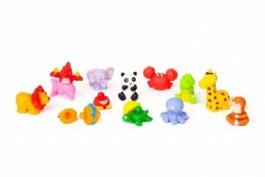 12 λαστιχένια ζώα διαστάσεις 11,5 χ 9,5 cm