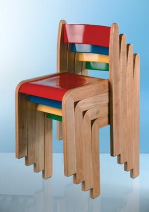 Σετ από 2 χρωματιστές καρέκλες ΤΟΜ, ύψους 35cm