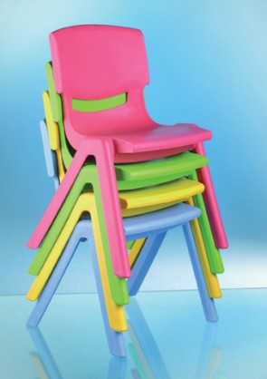Σετ από 12 πλαστικές καρέκλες 30cm